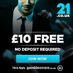 21.co.uk Casino Bonus And Review