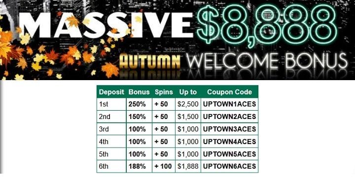 Uptown Aces: Massive $8,888 Autumn Bonus