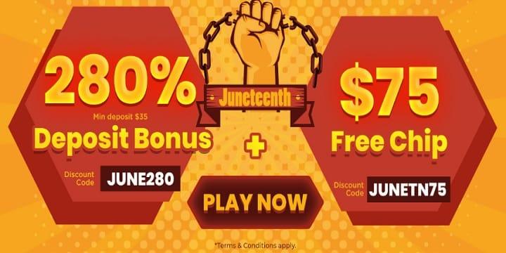 Slots Villa Casino: Juneteenth Promotion