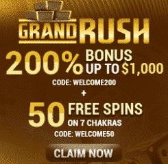 GrandRush Casino Banner - 250x250